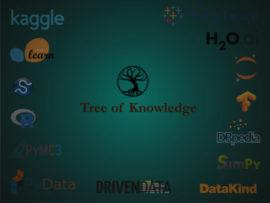 collage of machine learning- and statistics- tool logos
